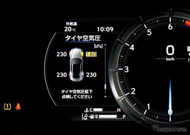 タイヤ空気圧警告表示(マルチインフォメーションディスプレイ表示付)