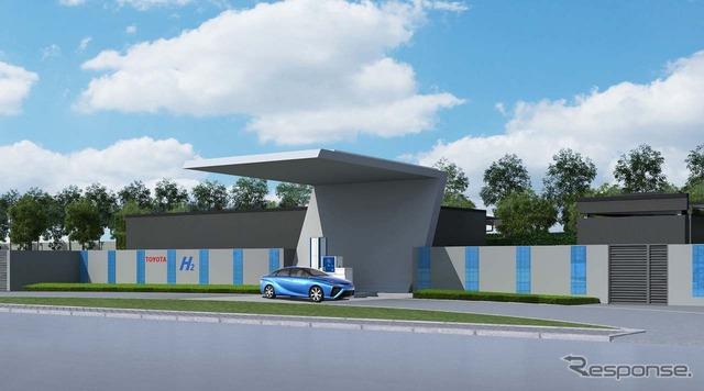 中国・江蘇省にある「TMEC」内に建設予定の水素ステーション(予想イメージ)