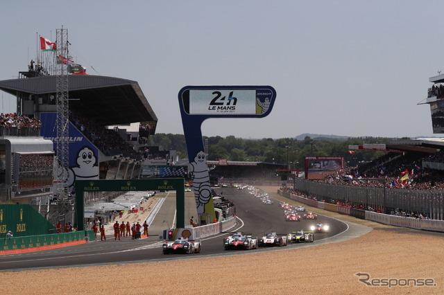 決勝スタート、その最前列はトヨタの2台。