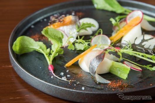 大分「関あじ」と青森「野辺地小かぶ」の冷菜