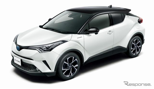 トヨタ C-HR G(ブラック×ホワイトパールクリスタルシャイン)<オプション装着車>