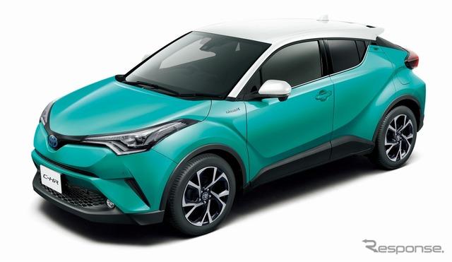 トヨタ C-HR G(ホワイト×ラディアントグリーンメタリック)<オプション装着車>