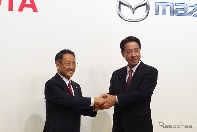 トヨタとマツダ、資本・業務提携を発表