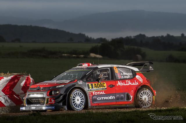 2位の#9 ミケルセン(シトロエンC3 WRC)。