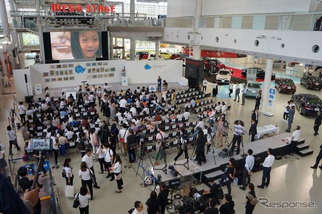 第11回 トヨタ夢のクルマアートコンテスト 表彰式会場のメガウェブ