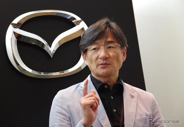 マツダ パワートレイン開発・車両開発・商品企画担当の廣瀬一郎 常務執行役員