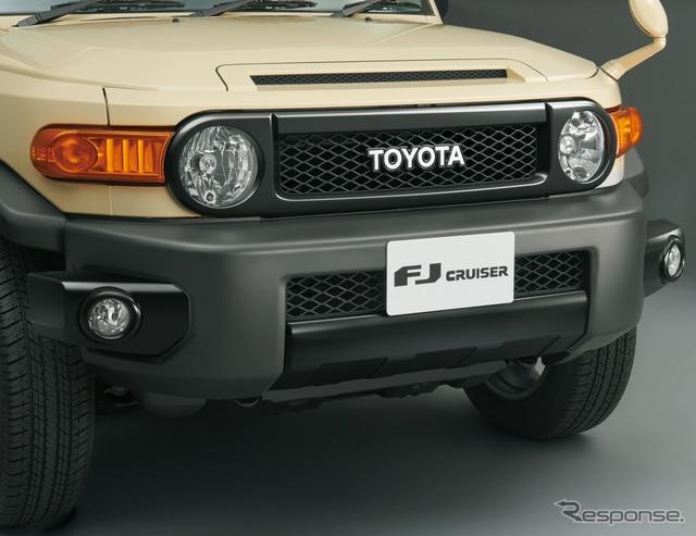 トヨタFJクルーザー・ファイナルエディションのラジエーターグリルとフロントバンパー