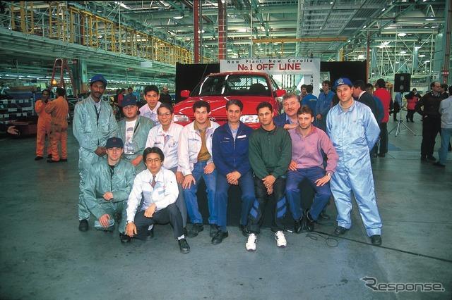 アルトナ工場製最初のカローラ(1994年)