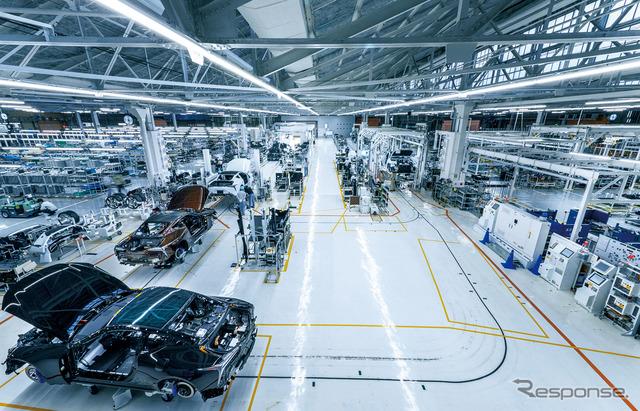 参考画像:トヨタ自動車元町工場(愛知県)。レクサスLCの生産ライン。