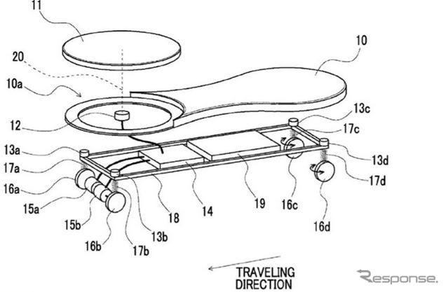 トヨタ米国で特許を出願した電動スケートボード