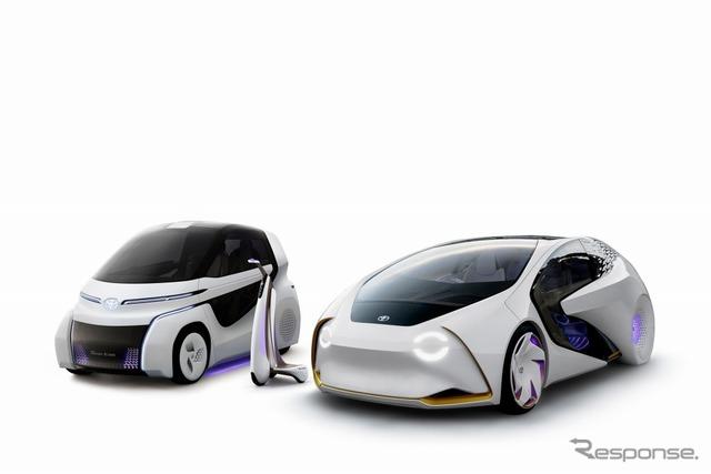 【東京モーターショー2017】トヨタ、AI搭載のEVコンセプト「愛i」シリーズ3台を出品予定