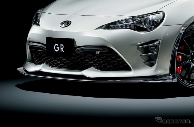 トヨタ 86GR 専用フロントスポイラー+専用フロントバンパーサイドフィン(グレーメタリック塗装)