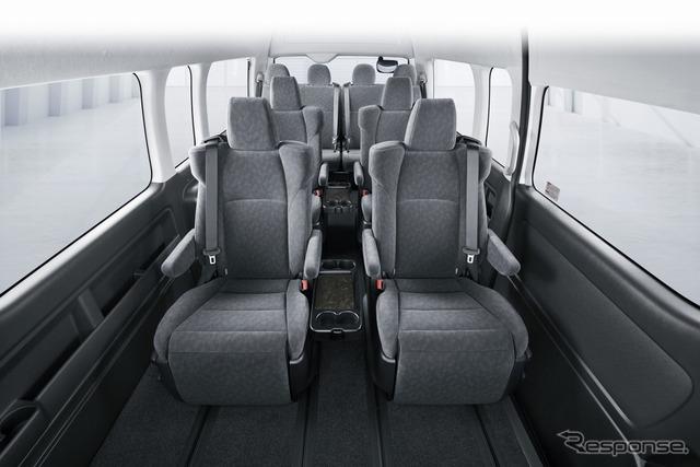 トヨタ ハイエース TECS車 ビジネス送迎車 ファインテックツアラー 室内