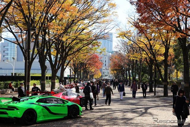 『SHIBUYA SPORTS CAR FES 2017』会場 代々木公園けやき並木