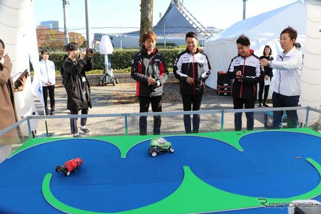 『SHIBUYA SPORTS CAR FES 2017』タミヤブース(3輪バイクラジコン)