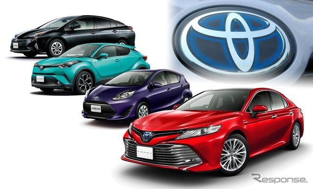 トヨタの複数チャネル販売の形は変わっていくのか。画像は4チャネルで販売されるトヨタ車(カムリは3チャネル+東京トヨタ)