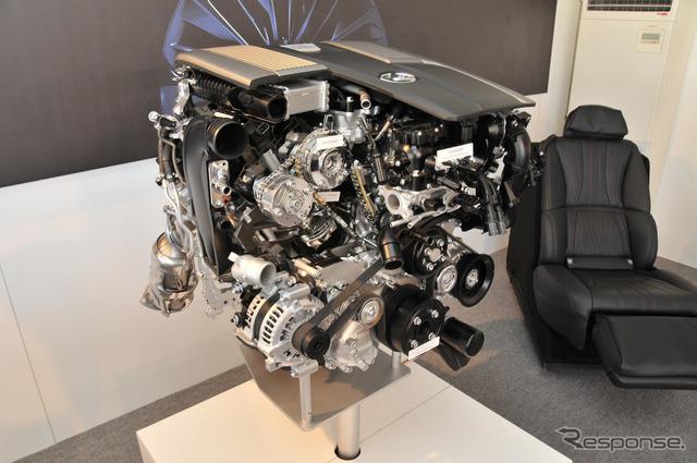 ツインターボエンジンカットモデル