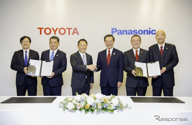 トヨタとパナソニックとの協業調印式(12月13日)