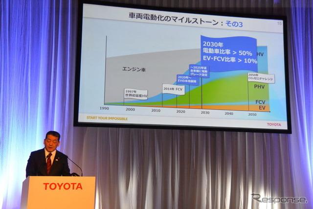 トヨタ自動車 電動車普及に向けた説明会