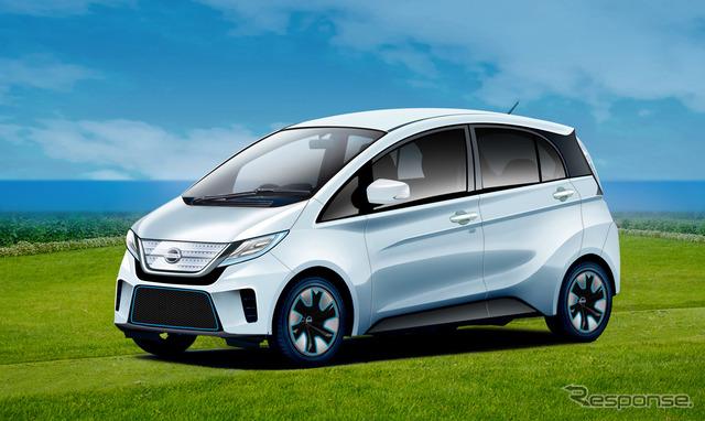 日産自動車が軽自動車タイプのEVを2019年にも発売するという。画像は予想CG