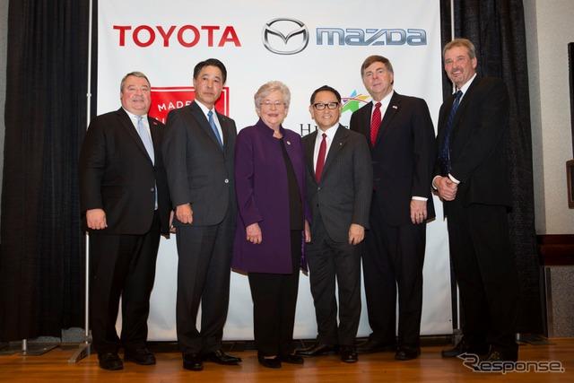 トヨタとマツダの米新工場、立地決定。