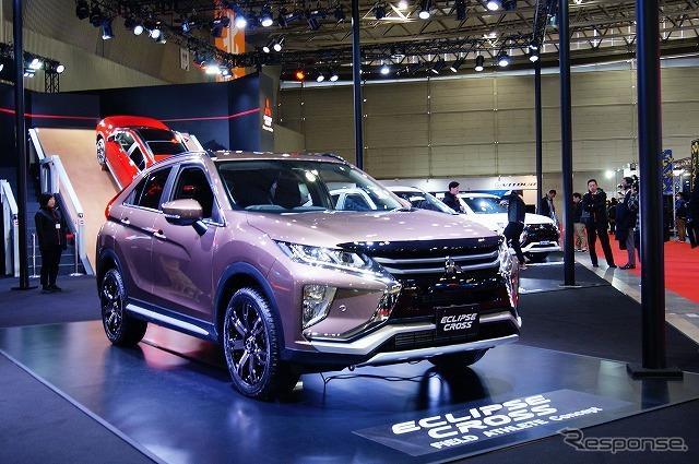 発売間近のエクリプス クロスを展示した三菱自動車ブース。