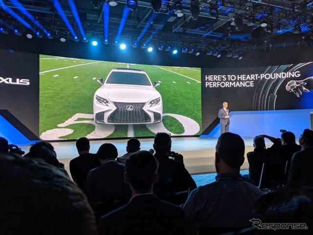 レクサス LS 新型、米国価格は先代下回る7万5000ドルから…デトロイトモーターショー2018で発表