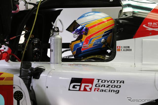アロンソはトヨタTS050のテストを経験済み。