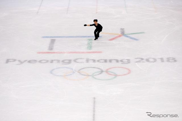 練習する宇野昌磨選手 (c) Getty Images