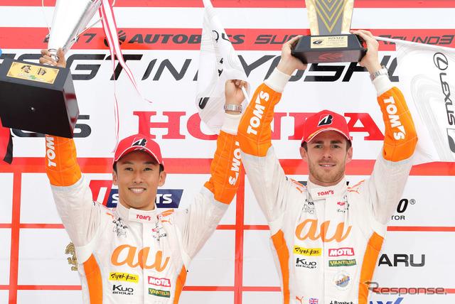今季のTOM'Sは中嶋一貴とロシターのコンビでスーパーフォーミュラに臨む(写真は昨季SUPER GT)。