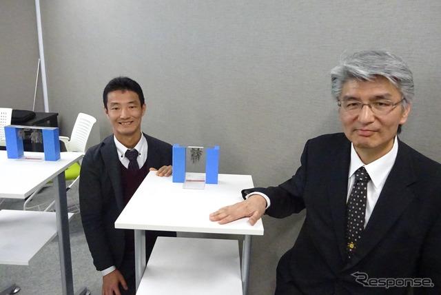 庄司哲也グループ長(左)と加藤晃技範(右)