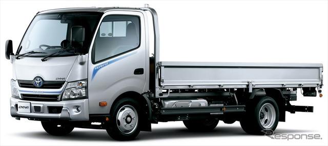 トヨタ ダイナ カーゴ ワイドキャブ・ロングデッキ・フルジャストロー・2トン積・ディーゼルハイブリッド車・2WD・Gパッケージ装着車