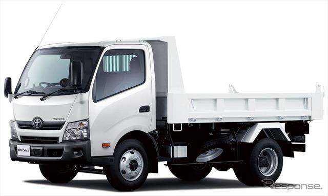 トヨエース TECS建設用ダンプ ワイドキャブ・11尺デッキ・高床・4トン積・2WD