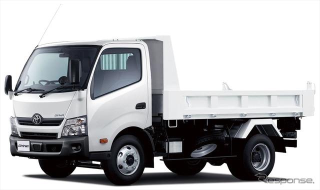 トヨタ ダイナ TECS建設用ダンプ ワイドキャブ・11尺デッキ・高床・4トン積・2WD
