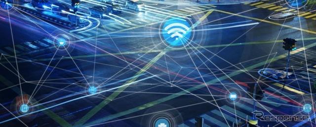 次世代の車車間通信技術のイメージ