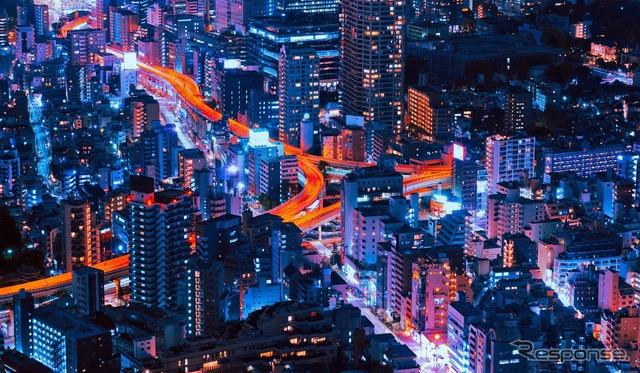 トヨタのAIを活用した都市交通最適化のイメージ