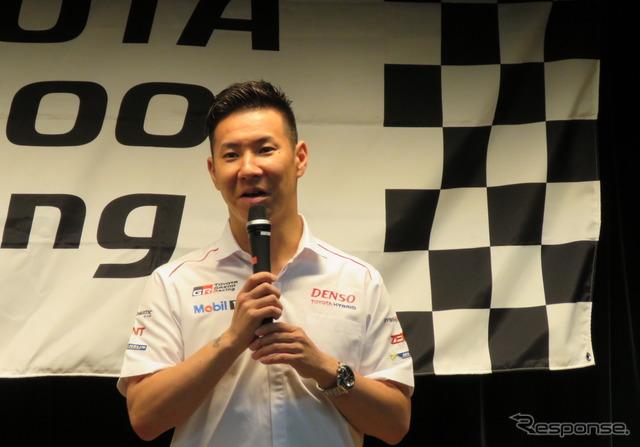 【ルマン24時間】トヨタ1-2凱旋会見…小林可夢偉、GRスーパースポーツコンセプトの市販を待望「すぐ買いたいです」