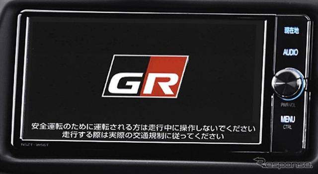 GR T-Connectナビ TOYOTA GAZOO Racing Recorder付(専用オープニング画面)