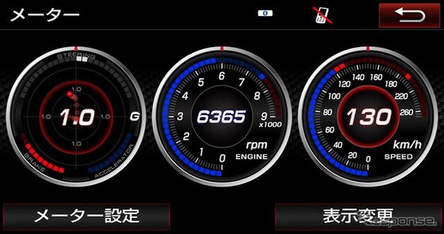 GR T-Connectナビ TOYOTA GAZOO Racing Recorder付(3連メーター画面)