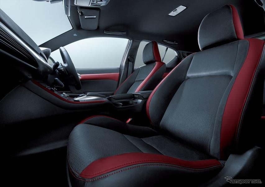レクサス CT 特別仕様車 ファブリック/L texシート(特別仕様車専用ブラック/ダークローズ・レッドステッチ)&ドアトリム