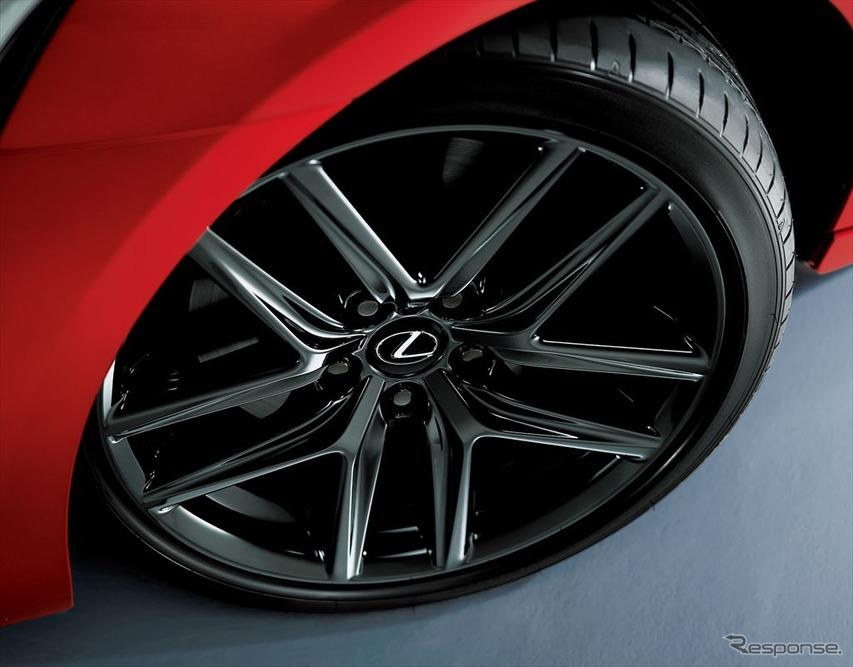 レクサス IS 特別仕様車 フロント225/40R18+リア255/35R18タイヤ&アルミホイール(特別仕様車専用スパッタリング塗装)