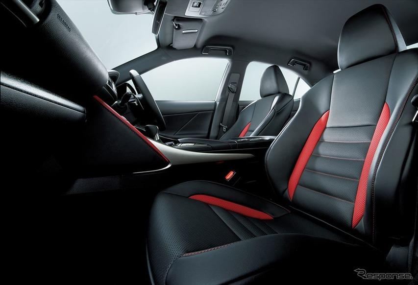 レクサス IS 特別仕様車 L texスポーツシート(特別仕様車専用ブラック/フレアレッド・フレアレッドステッチ)