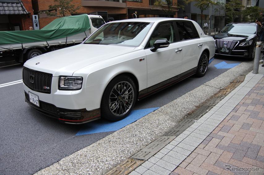 トヨタ センチュリー GRMN、世界に1台しかない豊田章男社長専用車がサプライズ登場…市販化は?