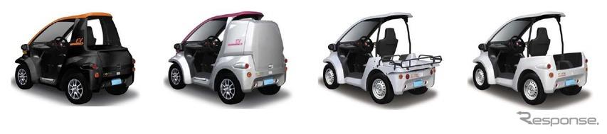 一部改良した1人乗り超小型電気自動車コムス