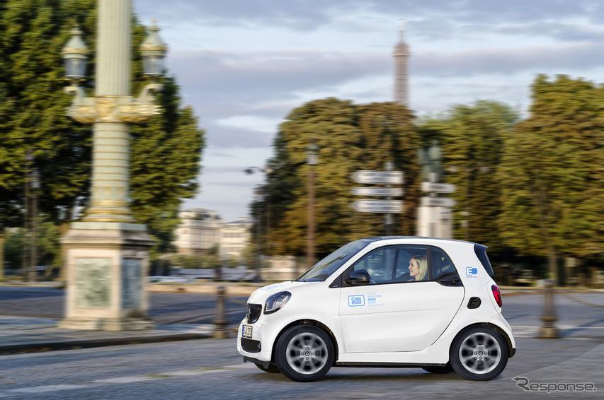 スマートのEVを利用したカーシェアリングプログラム「car2go」