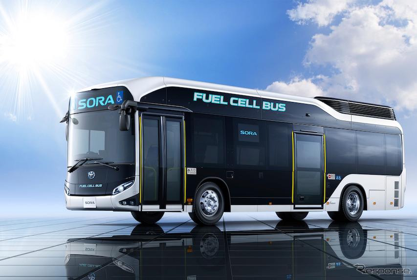 トヨタ自動車の燃料電池バス「SORA」