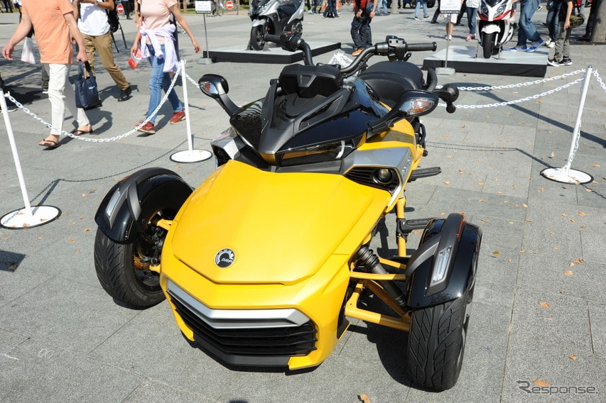 BRP Can-Am Spyder F3-S(東京モーターフェス2018、セーフティ&エコ展示)