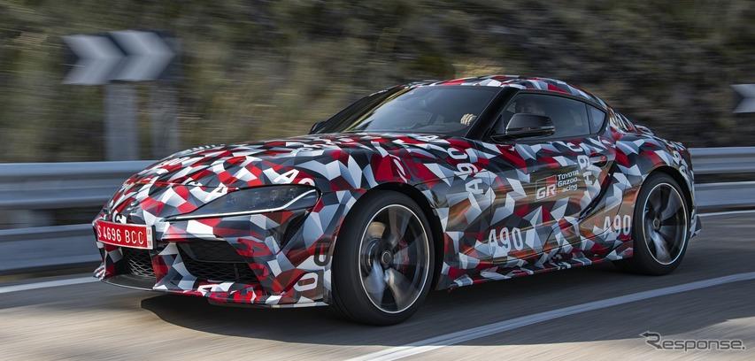 トヨタ スープラ 新型、開発プロトタイプの新たな画像を公開