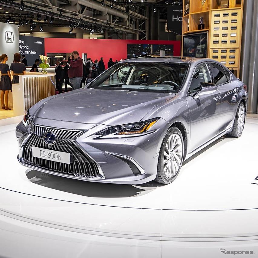 レクサス ES 新型、燃費21.3km/リットルのハイブリッド設定…パリモーターショー2018