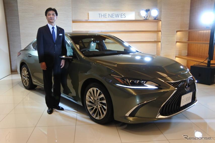 レクサス ES 新型、開発責任者「デザインでも走りでもときめきを感じる魅力を備えた」
